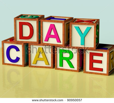 Daycare Building Clipart Blocks Spelling Day Care