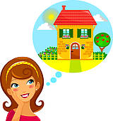 Dream House Illustrations And Clipart