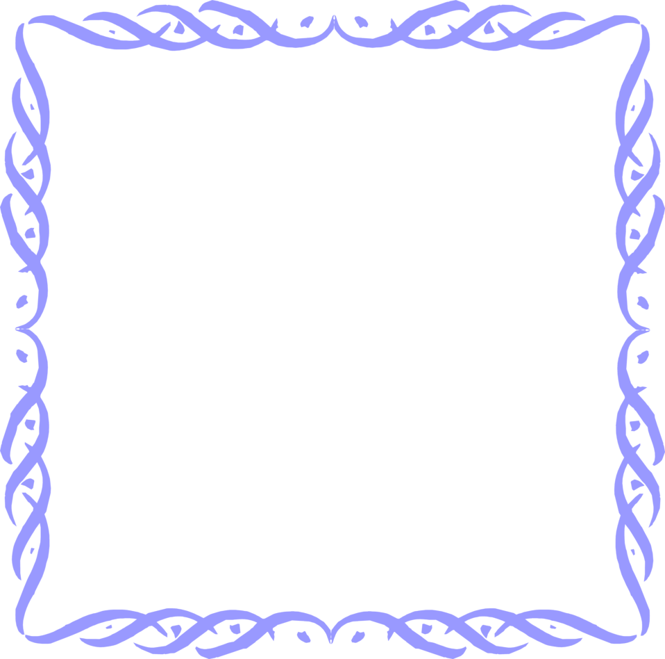Free Stock Photo   Illustration Of A Blank Blue Frame Border     7313