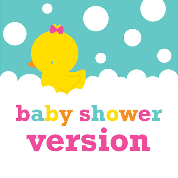 Girl Rubber Ducky  Duckie  Baby Shower Printable Party Kit