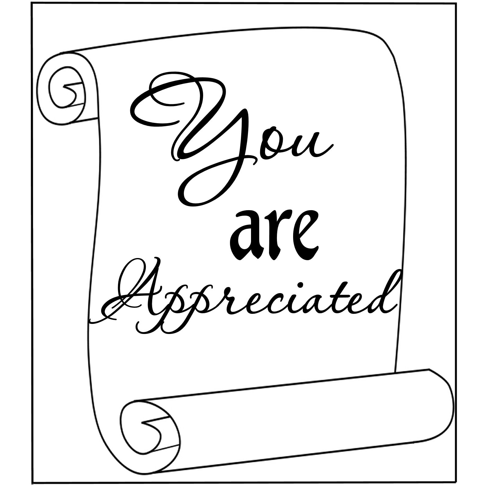 Patty Wraps  You Are Appreciated Word Art