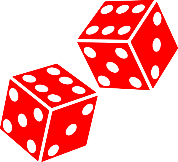 Clip Art Two Dice Clipart Clipart Suggest