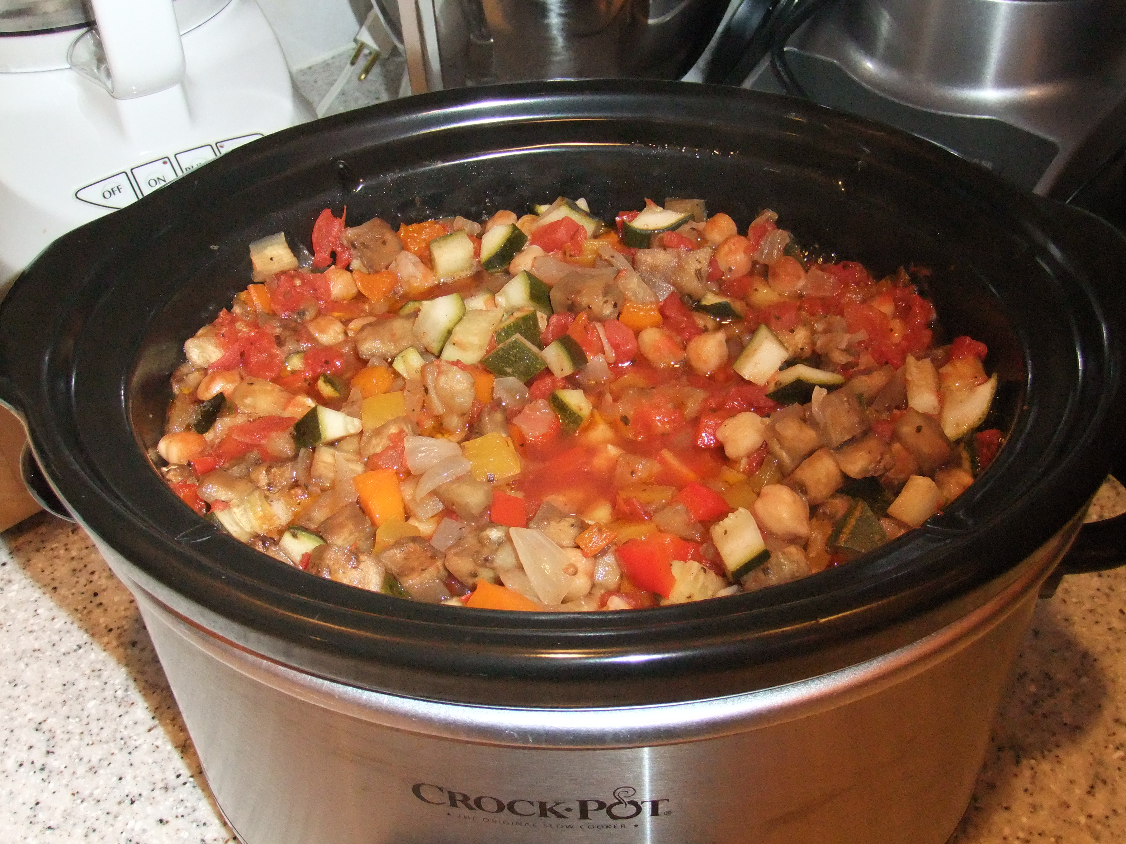 Slow Cooker Eggplant Stew  Summer S Bounty In A Crock Pot