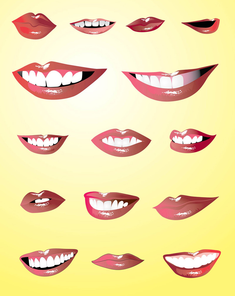 Smiling Lips Vectors By Craig Allan Bull