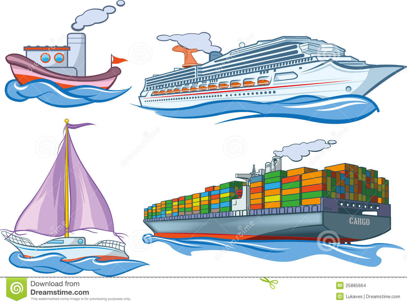 Water Transportation Clipart - Clipart Kid