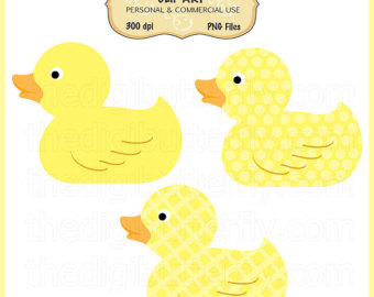 Yellow Ducky Clip Art Set   Persona L And Commercial Use   Digital