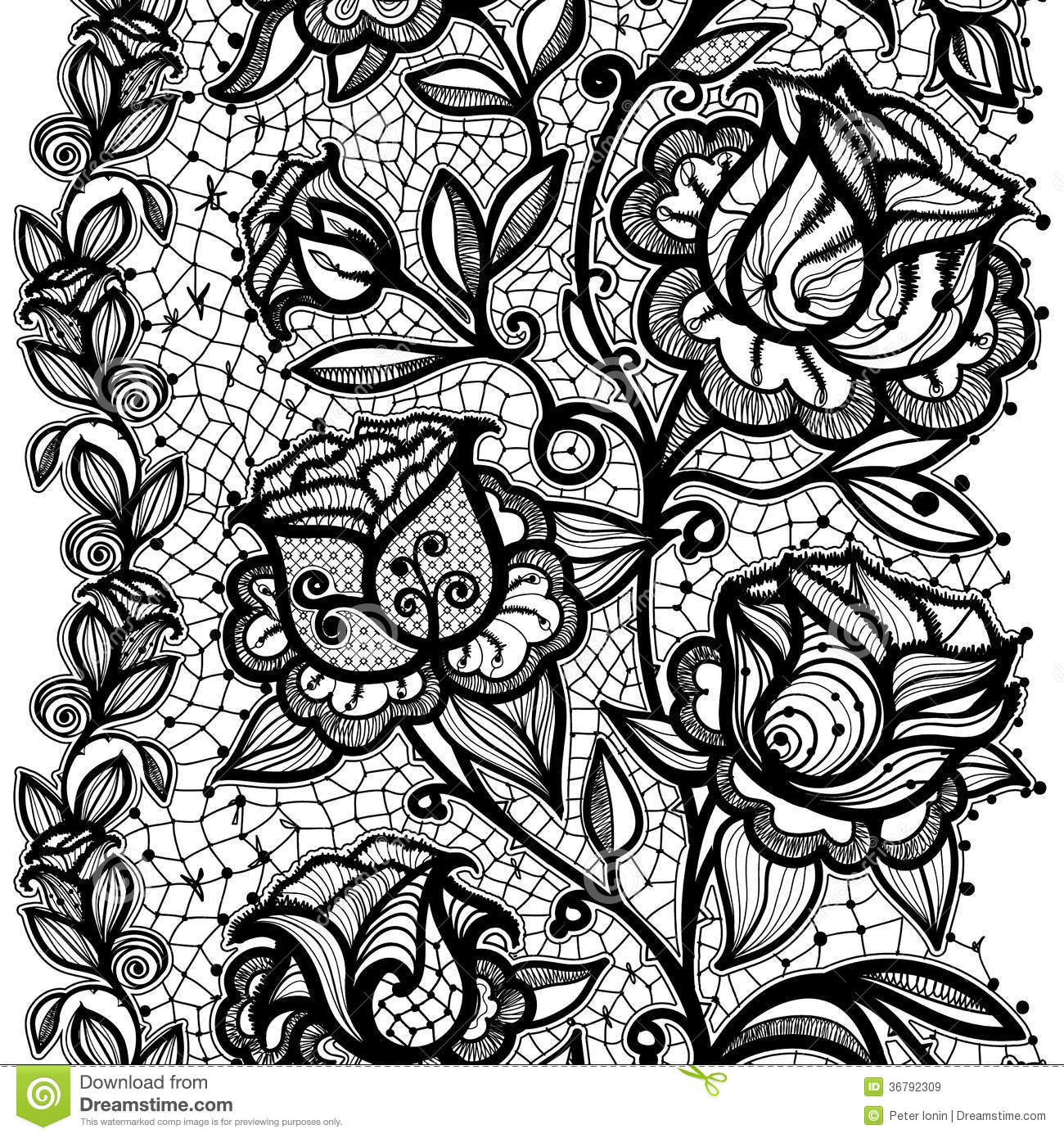 Simple lace patterns clipart - photo#8