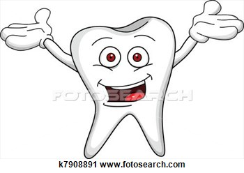 Clipart   Tooth Cartoon Character  Fotosearch   Search Clipart