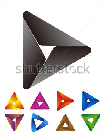 Design Triangle Logo Element  Vector Arrows Icon Template  You Can Use