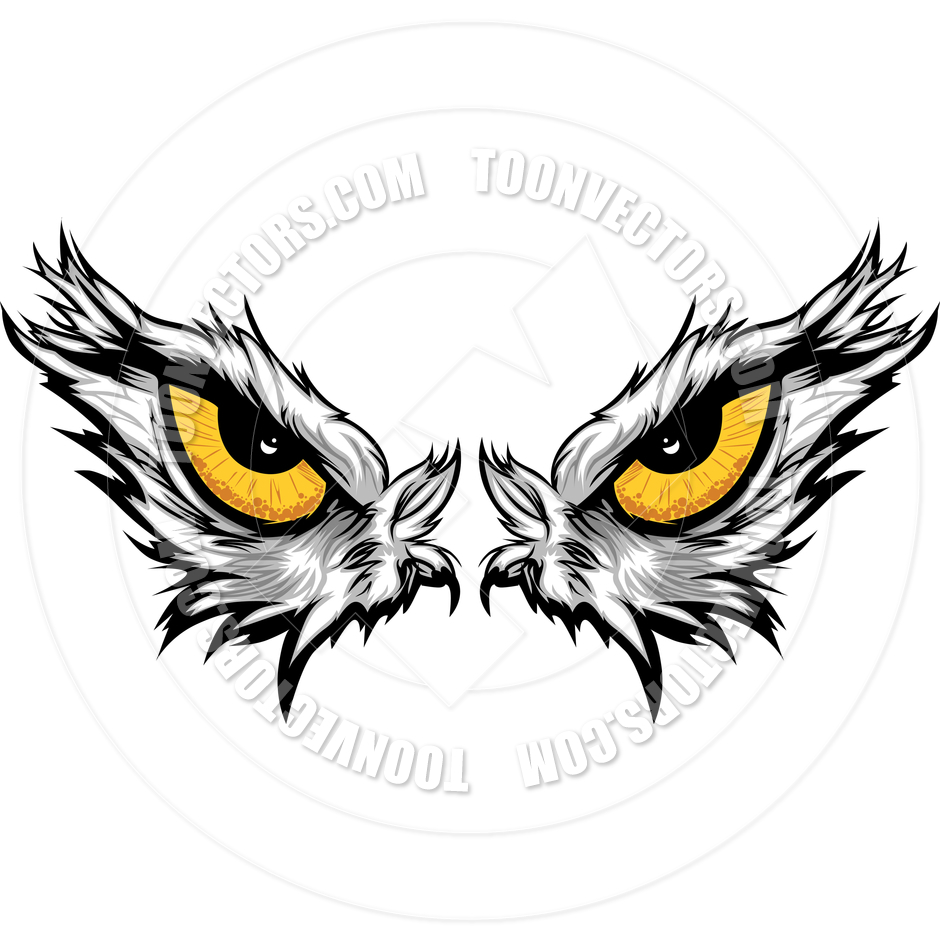 Eagle Eyes Vector Illustration By Chromaco   Toon Vectors Eps  42296