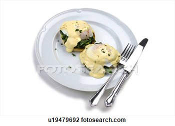 Eggs Benedict With Wilted Spinach View Large Photo Image