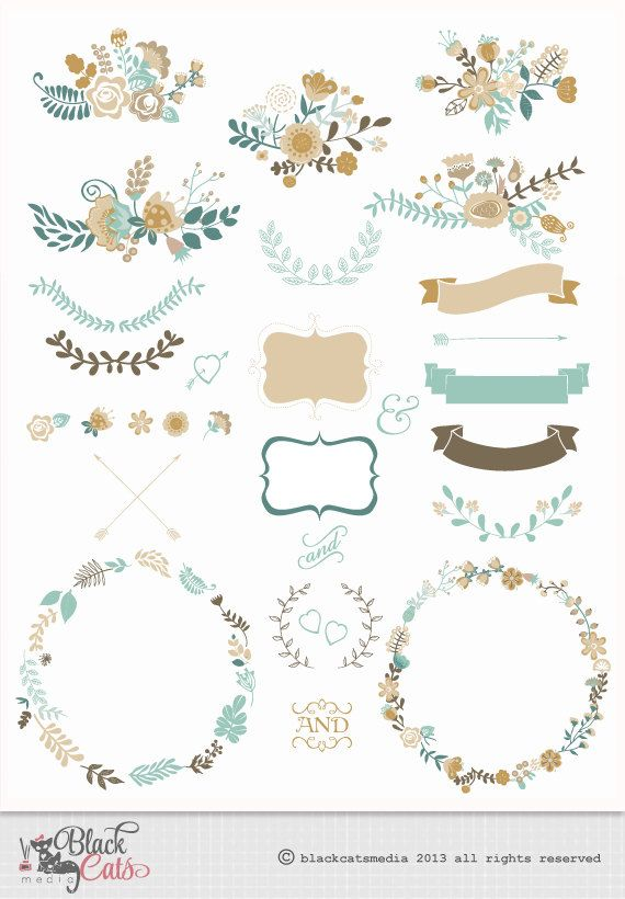 Free Clipart Digital Clipart Flower Frames Clipart Ribbons