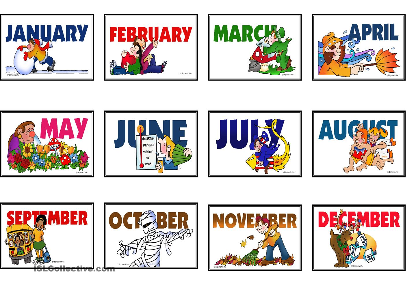 Pin Of 1 Clip Art Month Banner December Color December Word Banner ...
