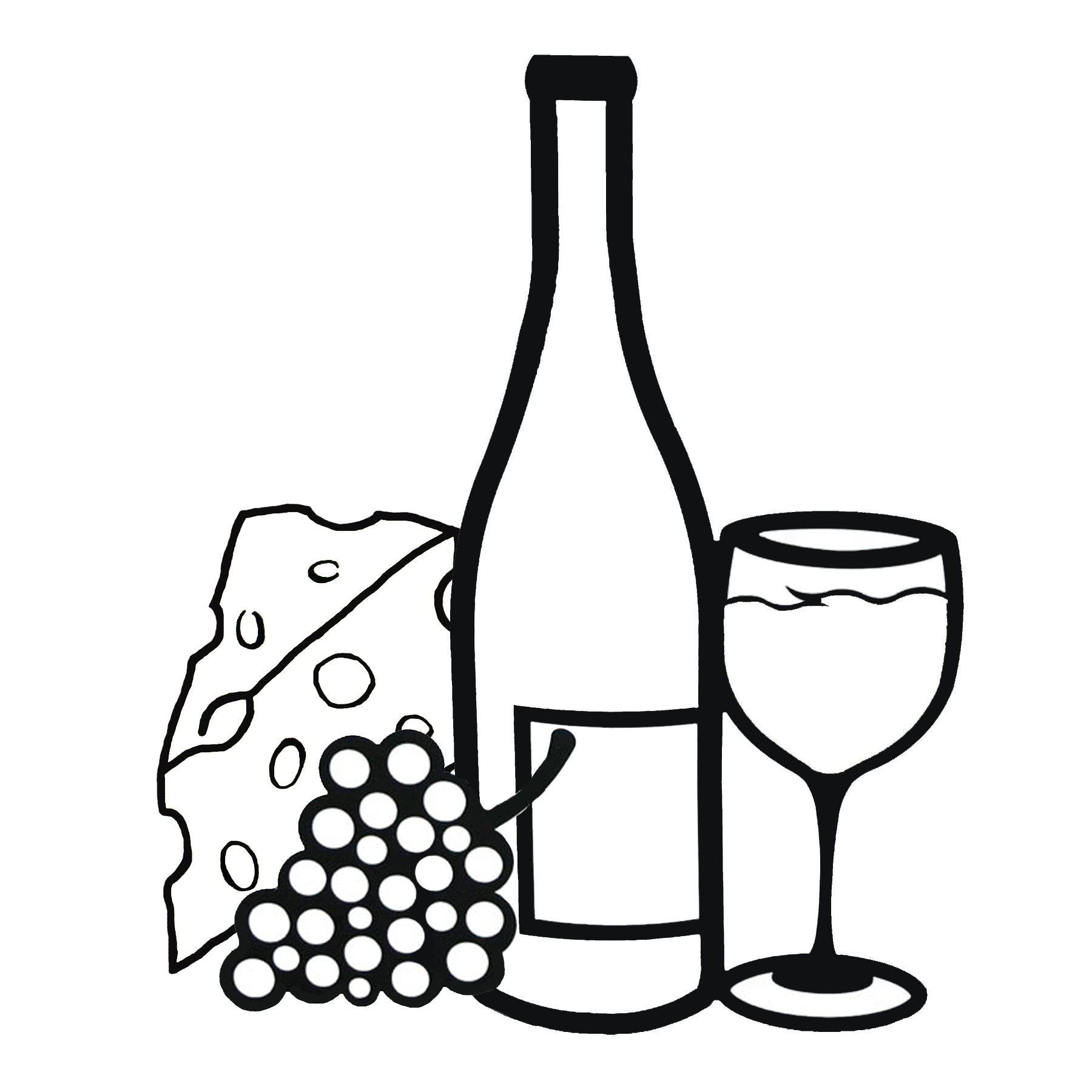 Wine And Cheese Clip Art