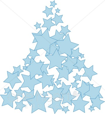 Blue Christmas Star Clipart - Clipart Kid