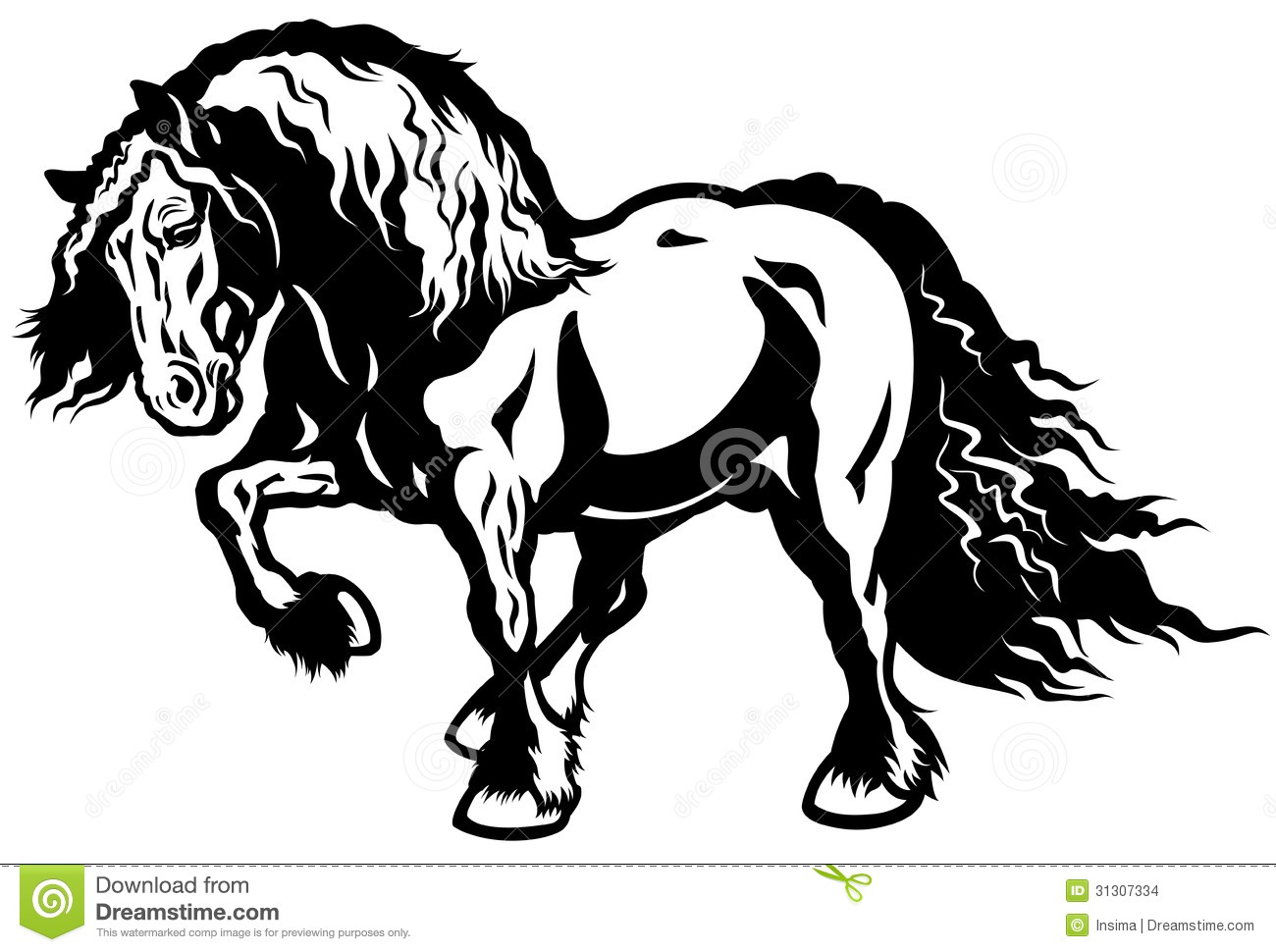 Draft Horse Clipart   Free Clip Art Images