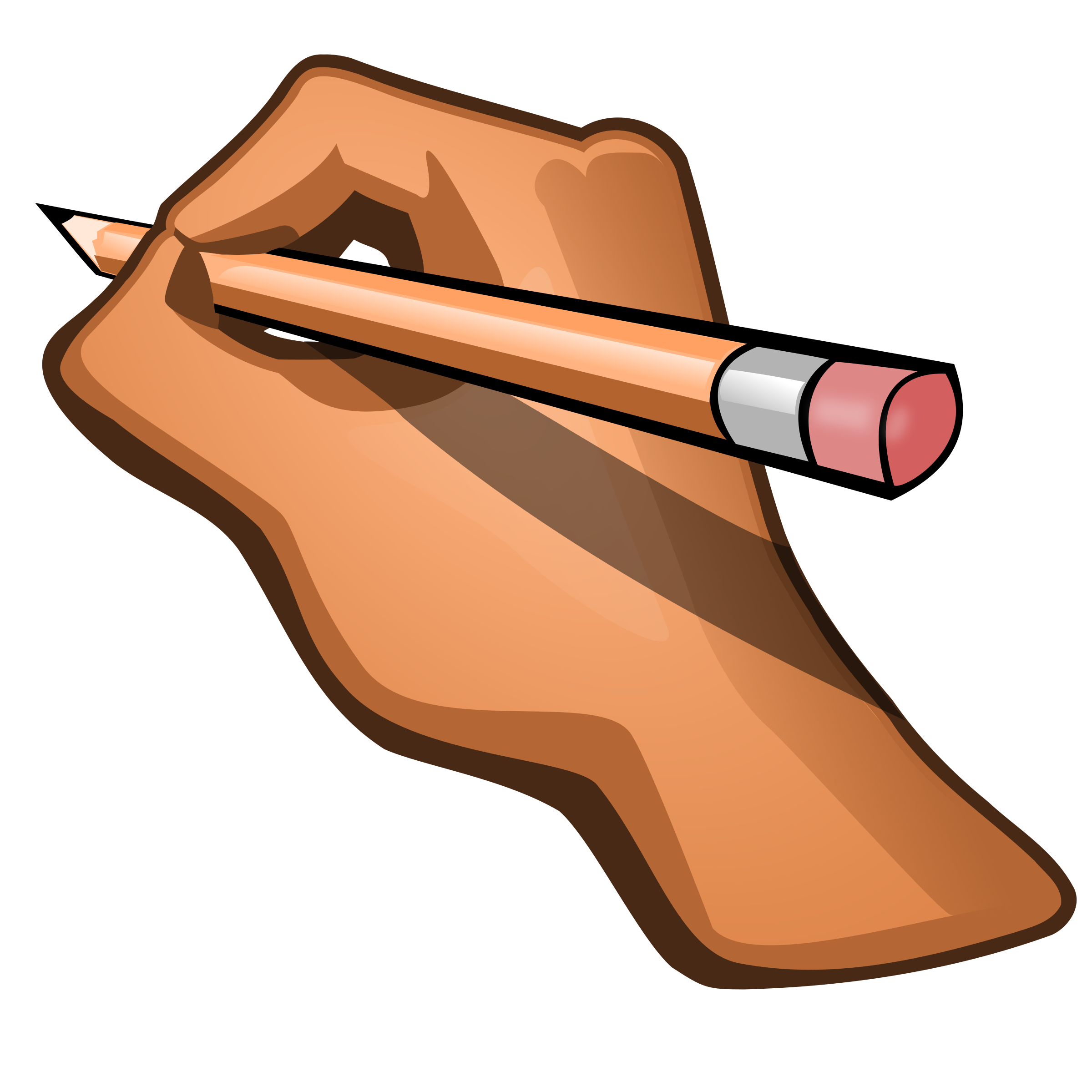 Pencil In Hand Clipart - Clipart Kid