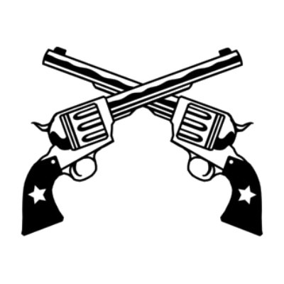 Two Pistols Crossed Clipart - Clipart - 18.5KB