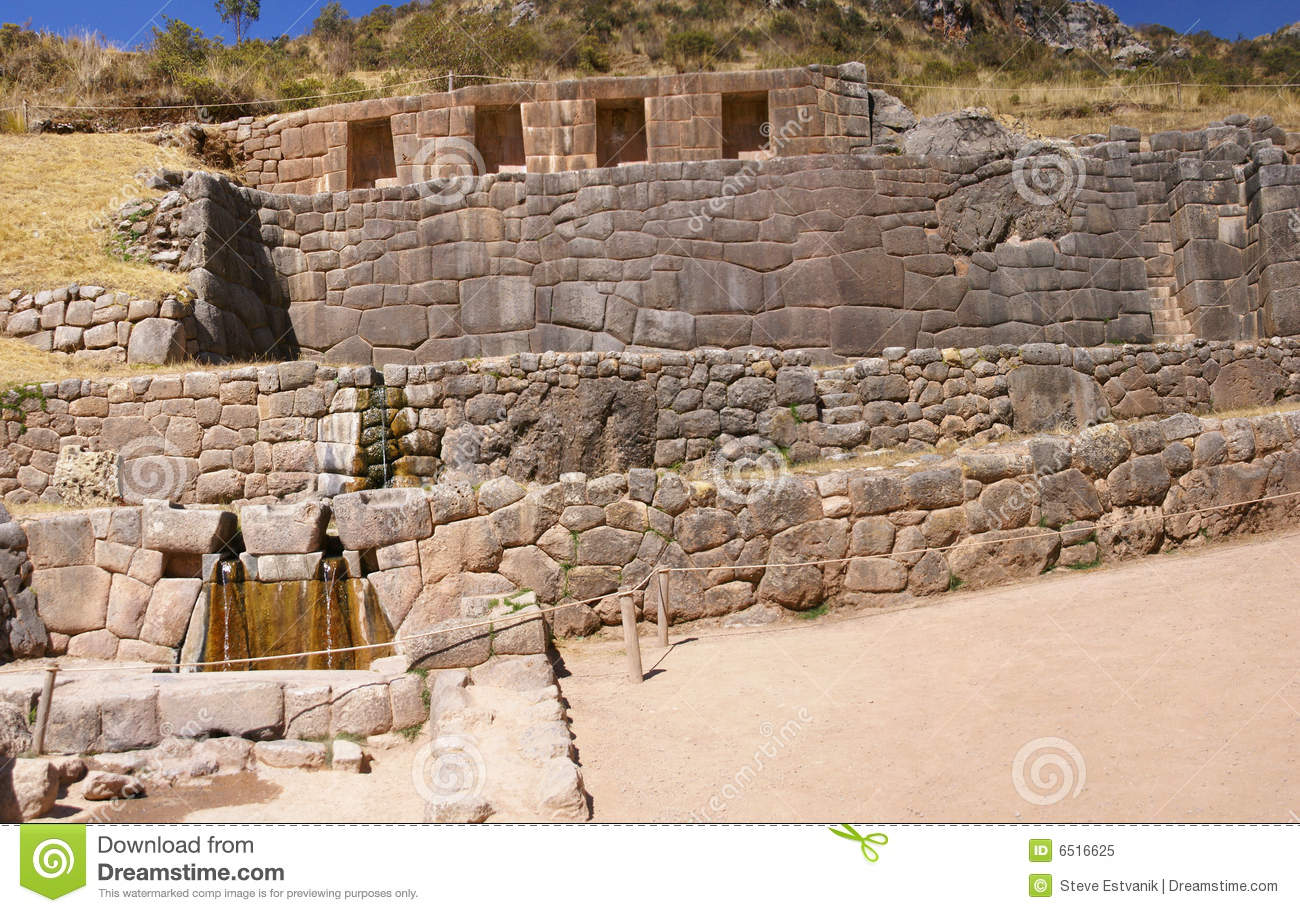 Inca Baths Stone Architecture Tambo Machay Royalty Free Stock Photo