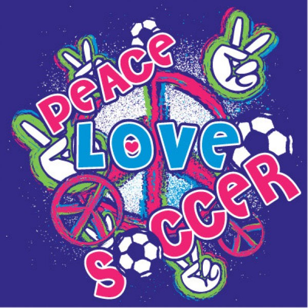 Peace Love Soccer Picture