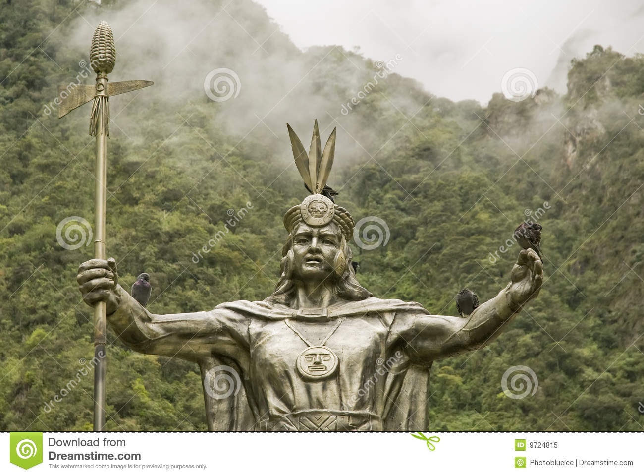 Royalty Free Stock Photo  Inca God By Machu Picchu