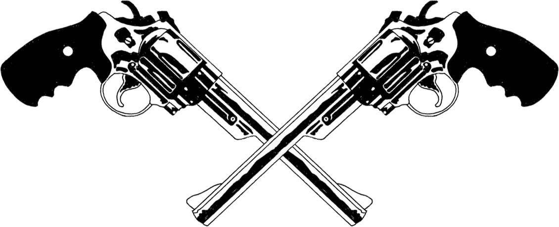 Two Pistols Crossed Clipart - Clipart - 56.4KB