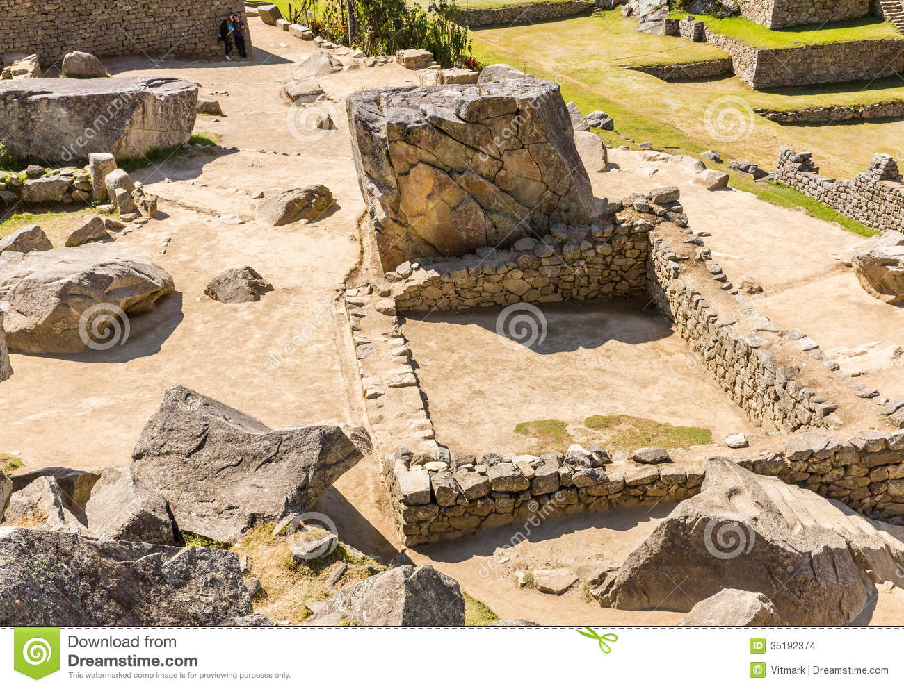 Stock Images  Inca Wall In Machu Picchu Peru South America  Example