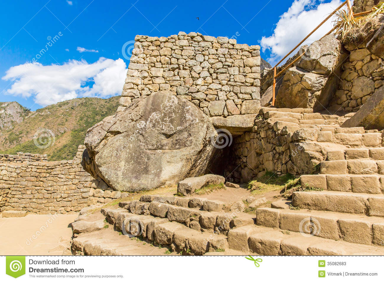 Stock Photos  Inca Wall In Machu Picchu Peru South America  Example