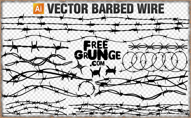 Barbed Wire Vector Clipart Barbed Wire Also Known As Barb Wire And