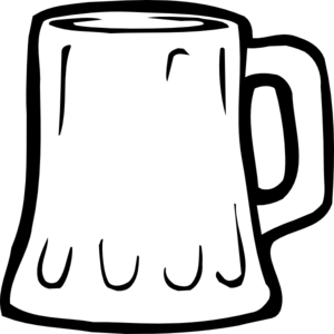 Beer Mug Black And White Clip Art At Clker Com   Vector Clip Art