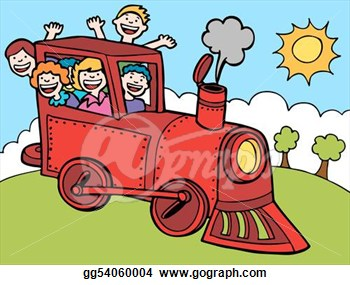 Cartoon Park Train Ride Color  Vector Clipart Gg54060004   Gograph
