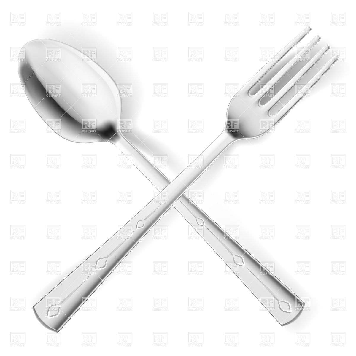 Crossed Spoon And Fork 7097 Food And Beverages Download Royalty