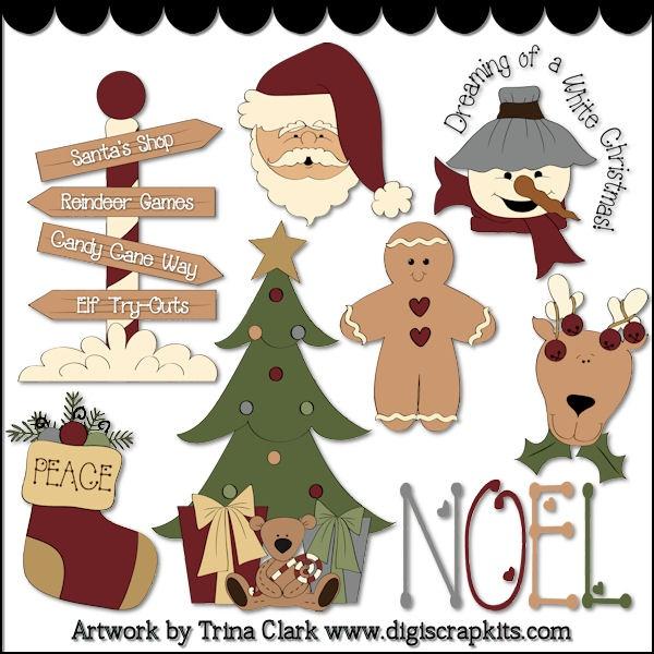 Primitive Christmas Clipart Christmas Candles Clipart - Clipart Kid