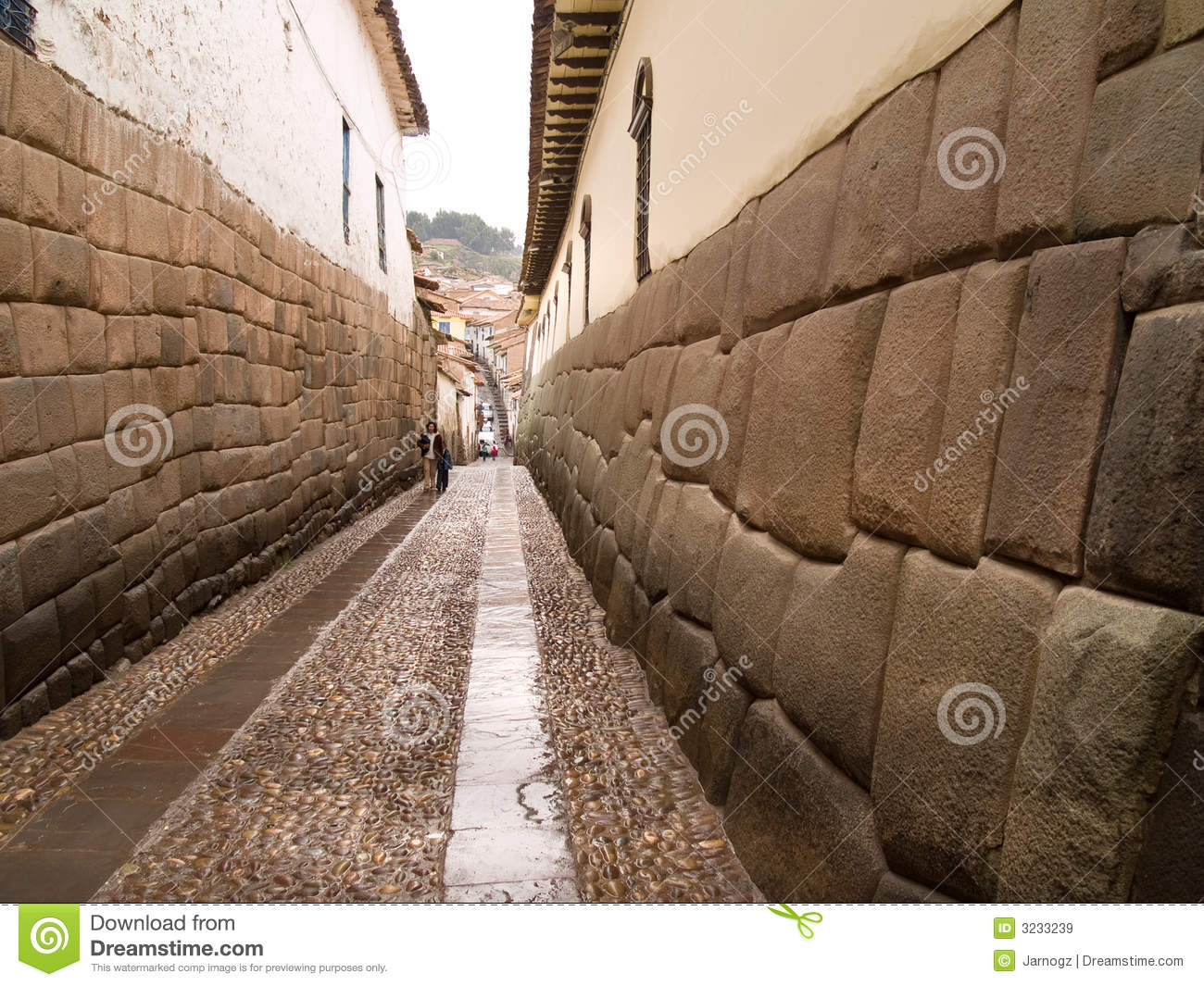 Inca Architecture Street Royalty Free Stock Images   Image  3233239