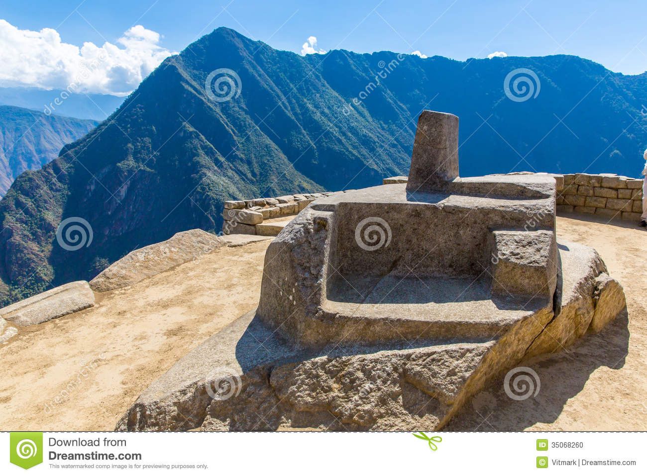 Inca Wall In Machu Picchu Peru South America  Example Of Polygonal