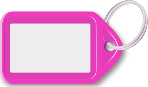 Key Ring With Tag Pink   Http   Www Wpclipart Com Blanks Tags Key Ring
