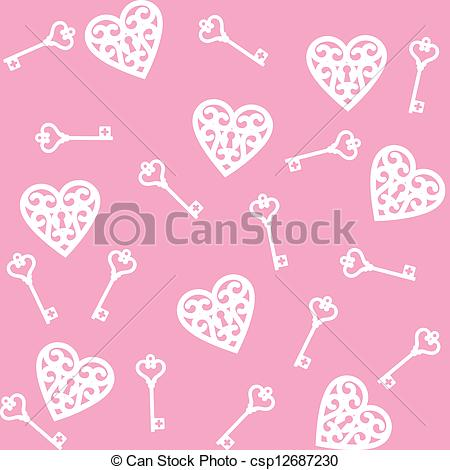Key   Seamless Pink Background With Lock    Csp12687230   Search Clip