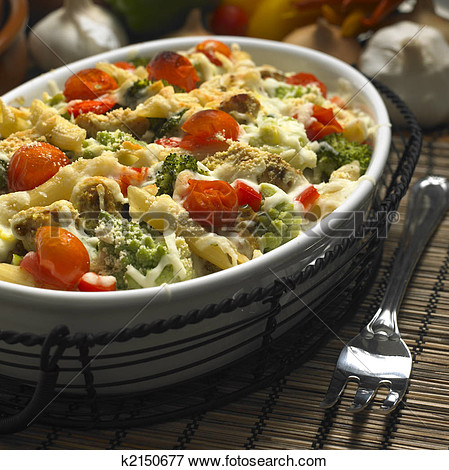 Picture Of Baked Pasta K2150677   Search Stock Photography Photos