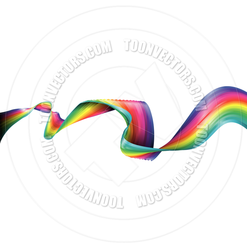 Rainbow Ribbon By Geoimages   Toon Vectors Eps  33579