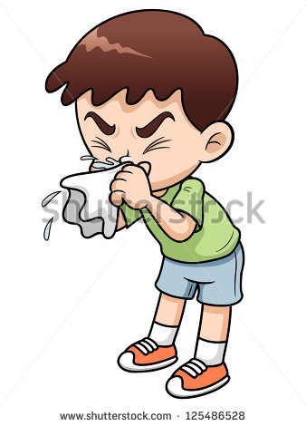 Sick Child In Bed Clip Art Illustration Of Sick Boy Cartoon  Author