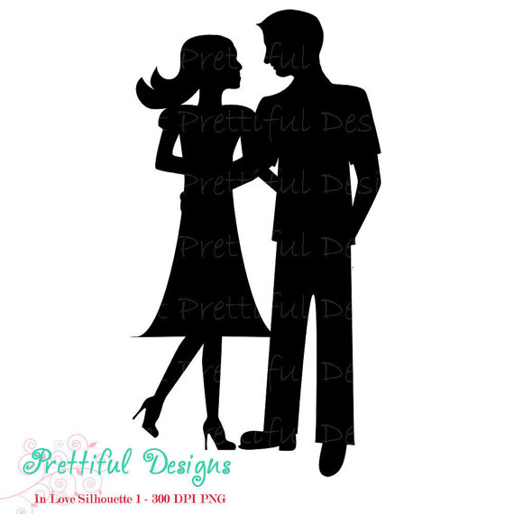 Siloute Golf Couple Clipart - Clipart Kid