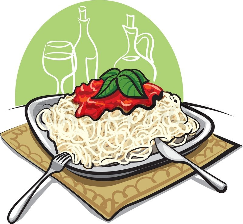 Stock Vector Of  Spaghetti With Tomato Sauce
