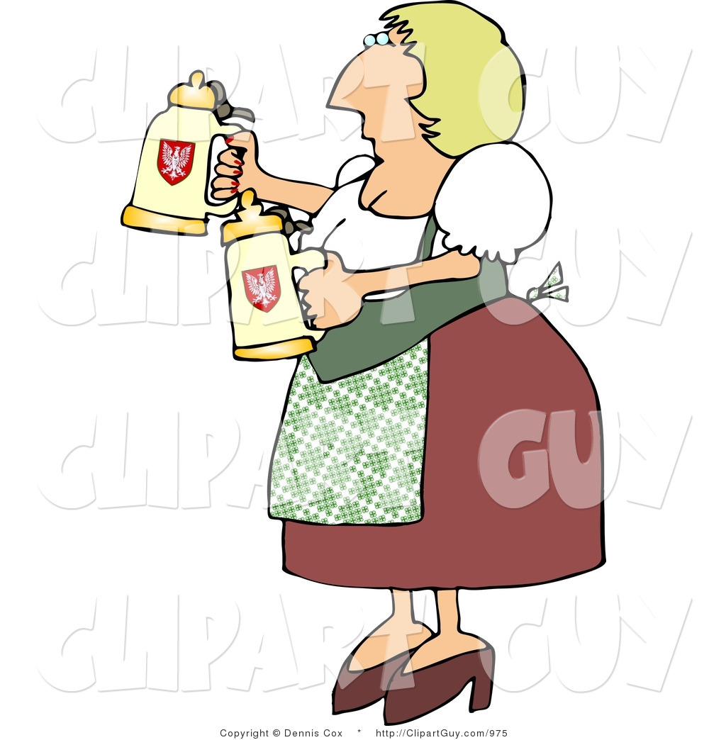 Woman Drinking Beer Clipart - Clipart Kid