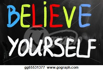 Clip Art   Believe Yourself  Stock Illustration Gg65531377