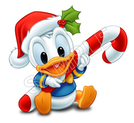 Donald Duck Baby Christmas T Shirt Iron On Transfer Decal  6 Donald