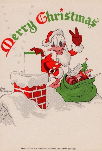 Donald Duck Christmas Clip Art