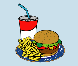 Fast Food Menu Samples Ff Menu Clip Art At Clker Com   Vector Clip Art