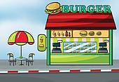 Fast Food Restaurant Clip Art Eps Images  4329 Fast Food Restaurant