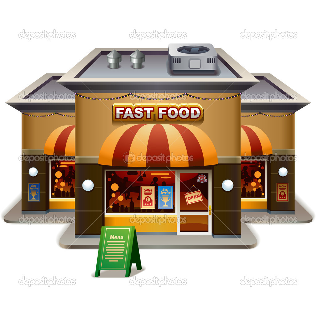 Fast Food Restaurant   Stock Vector   Yesman  35396179