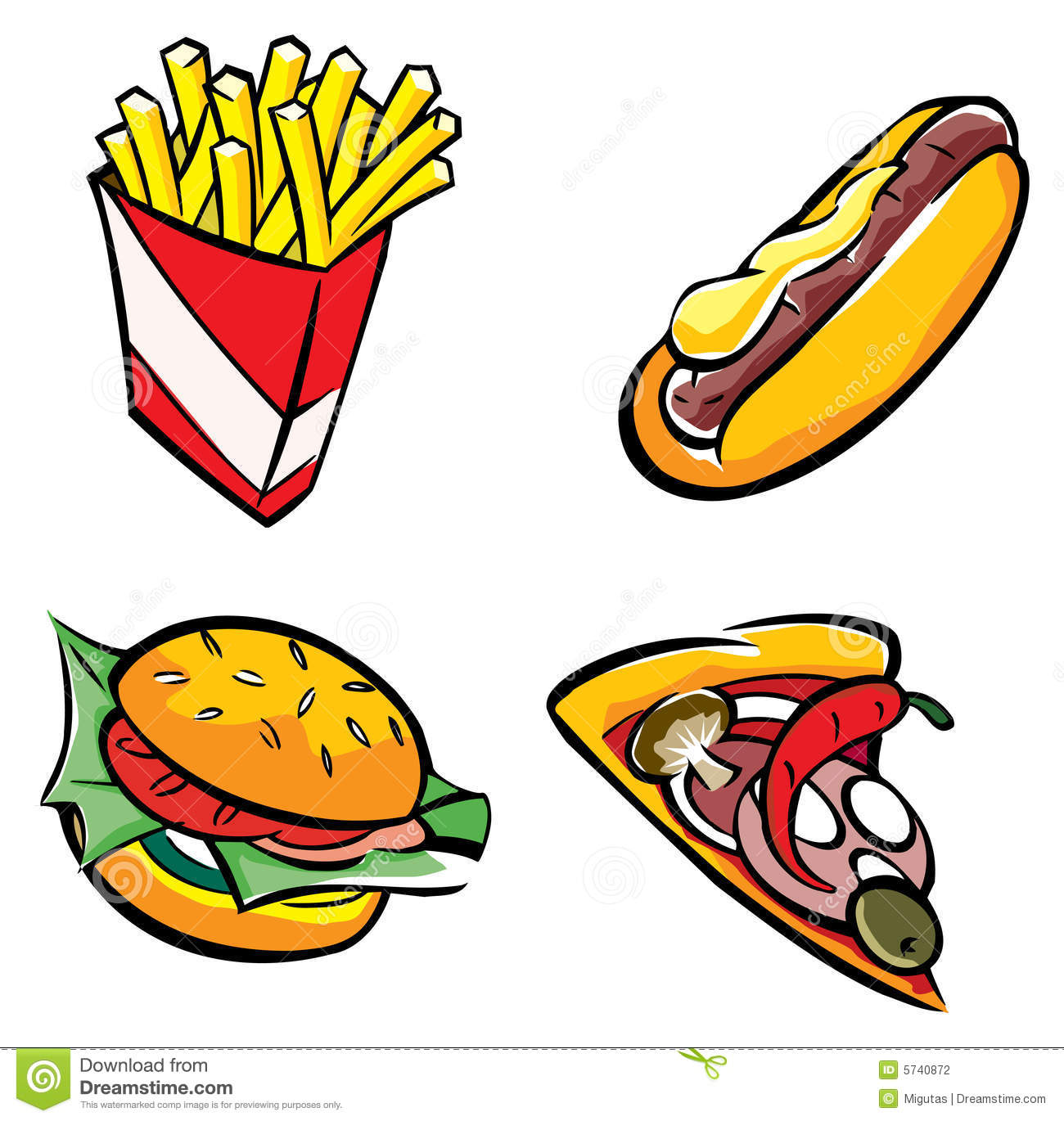 Fast Food Stock Photography   Image  5740872